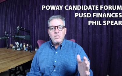Poway Candidate Forum, PUSD Finances, Phil Spear JRP0002